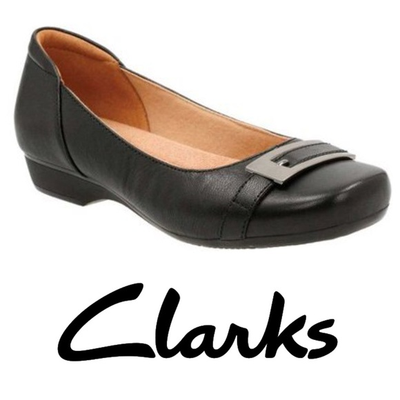 Clarks Collection Soft Cushion Concert Black Heels